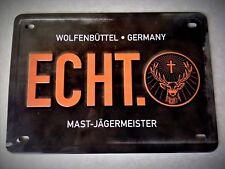 """Jägermeister Blechschild ca. 20 x 14 cm mit dem Aufdruck: """" ECHT. """""""