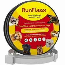 """Runfleax Dog Collar Flea And Tick Control 100% Natural Fits Up To 25"""" Neck"""
