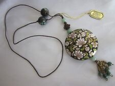 Chinese Cloisonne & Jade Necklace W. Tag