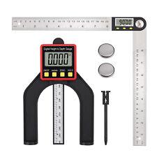 Digital Angle Finder Protractor 8'' Angle Finder Ruler & Digital Depth Gauge set