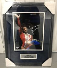 Simone Biles Signed Custom Framed 11x14 Photo Olympic Gold Gymnastics Psa/Dna
