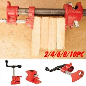 2/4/6/8/10PC Heavy Pipe Clamp 1/2'' Straight Wood Woodworking ClampingTools