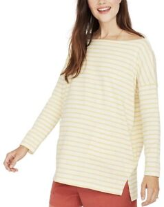 Hatch Maternity Women's THE BATEAU TOP Yellow/Ivory Cotton Size 1 (S/4-6) NEW