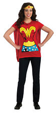 Wonder Woman Shirt Adult Womens Costume Removable Cape And Headpiece Rubies
