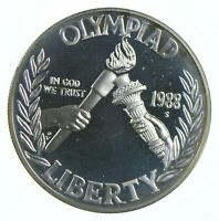 Proof 1988 Seoul Olympiad Commemorative 90% Silver Dollar - Collectible *566