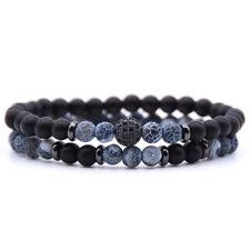 Naturstein Armband Perlen Charms Paar Armbänder Frauen Männer Schmuck Geschenk