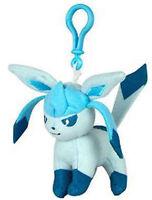 Pokemon 3'' Glaceon Eevolution Plush Bag Clip Key Chain NEW