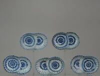 #6 Set Antique 19th/20th C Japanese Arita Blue Kosometsuke White Dishes Marked