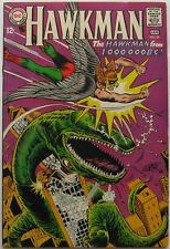Hawkman #23 (Dec 1967-Jan 1968, DC), VFN-NM condition, Hawkman vs. a dinosaur