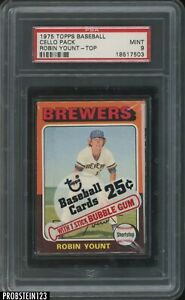 1975 Topps Baseball Unopened Cello Pack w/ Robin Yount RC HOF On Top PSA 9 MINT