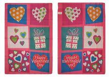 "28x40 Happy Valentines Day Box Hearts Nylon Sleeved Garden Flag 28""x40"""