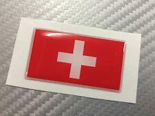 Adesivo Bandiera 3D Resinata SVIZZERA 45 x 25 mm.