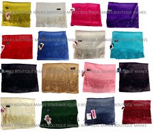 Pashmina Shawl Wrap Scarf Fashion Women's Solid Plain Wedding Gift
