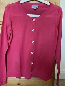 Pure Collection Ladies Pink 100% Silk Cardigan Size 14