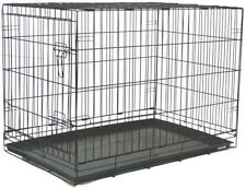 "Extra Large 48"" Wire Folding Pet Dog Cat Black Cage Kennel With Plastic Pan 159"