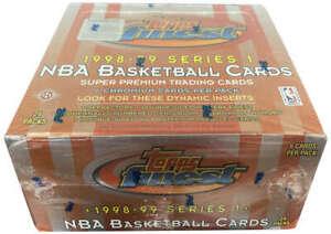 1998-99 Topps Finest Basketball Series 1 Hobby Box Factory Sealed