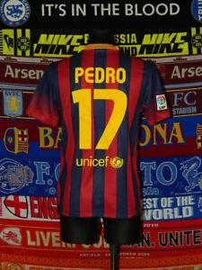4.5/5 Barcelona adults S 2013 #17 Pedro original football shirt jersey trikot