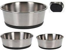 Stainless Steel Dog Pet Feeding Water Bowl Animal Food Dish Small/Medium/Large