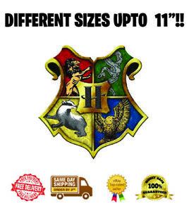 Harry Potter Hogwarts Logo Badge  Wafer Icing Cake Topper