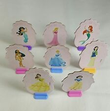 Disney Princess Monopoly Jr Tokens Only 8 Movers Cupcake Toppers Double Sided