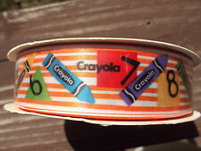 Offray Crayola Color Fun Ribbons Crayons Numbers Official Licensed Product 10yds