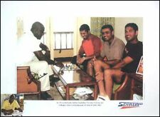 Viv Richards with Sachin Tendulkar & Sehwag signed prin