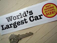Worlds Largest Car-Not Shown Actual Size! sticker Pedal Smart Micro Bubble Car