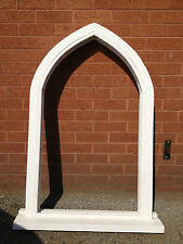 Solid Hardwood Gothic Arch Timber Window! Vintage! High Quality! Bespoke!!!