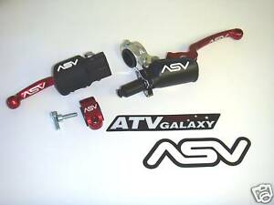 ASV Holiday Brake & Pro Clutch Levers RED Honda CR125 CR250 CR 125 250 92 93