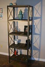 Bookcase /Shelving Unit, - Steel & Reclaimed Wood Rustic, Vintage Industrial