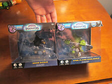 LOT 2 SKYLANDERS IMAGINATORS STEEL PLATED HOOD SICKLE & REGULAR DARK COMPLETE