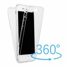360° Slim Full Body Front+Back Clear Soft TPU Rubber Case Cover For Smart Phones