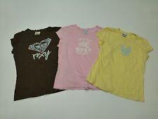 3 Roxy Girls Size Medium T Shirt Lot Great Condition
