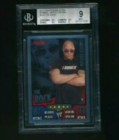 2011 Topps WWE Slam Attax Rumble The Rock Limited Edition BGS 9