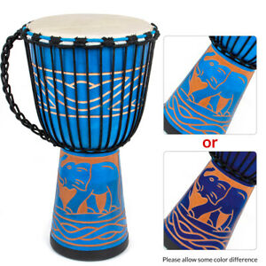 Djembe Africa Drum Solid Mahogany 10 Inch for Beginner(Notice:Random pattern)