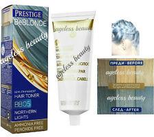 BLUE HAIR TONER BLOND BLEACHED LIGHT GREY Dye Colourant NO AMMONIA & PEROXIDE
