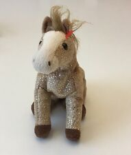 Ty Beanie Baby Filly - (Horse With Gold Sparkles 2002) No Tags