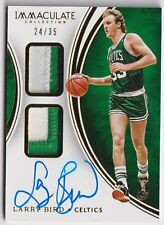 2015-16 Panini Immaculate Dual Patch Auto LARRY BIRD /35