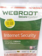 Webroot Secure Anywhere Internet Security - NEW and SEALED