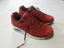 Mens Red Leather Nike Air Shoes Size US 9