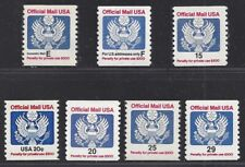 Collection of Official Mail Coil Stamps  Mint No Hinge