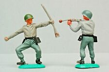 Timpo Toys 'Swoppet' Series 7 German Soldiers (one with GREEN Pot Helmet) 1960's