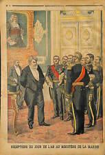 Camille Pelletan Ministre de la Marine RECEPTION NOUVEL AN AMIRAL AMIRAUX 1903