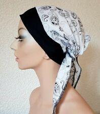 Kopftuchmütze Chemomütze weiß Chemo Turban Chemotuch Kopftuch Mütze Cabrio Maya