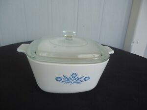 Corning Ware cornflower blue casserole dish  saucepan p-1 3/4 2 1/2 pints