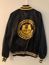 Vintage Union Workers America Xl Men's Satin Jacket St. Louis Local 250 Rare Vtg
