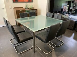 Glass Top Dining Table Seats 8