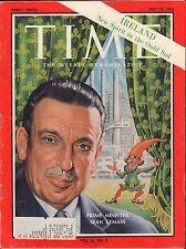 Time Magazine July 12 1963 Sean Lemass, Prime Minister w/ML VG 090816DBE