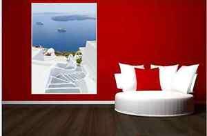 Gorgeous Santorini  Steps Seascape  Canvas Print  75x100cm  other sizes avail.