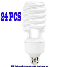Lot 24PC 40W T4 Spiral Compact Fluorescent Bulb Screw In Base High Lumen/Wattage